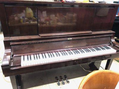 【疫情期間特價】【中古二手鋼琴】艾伯特ALBERT豪華型U30直立式演奏琴 胡桃木色 九成新