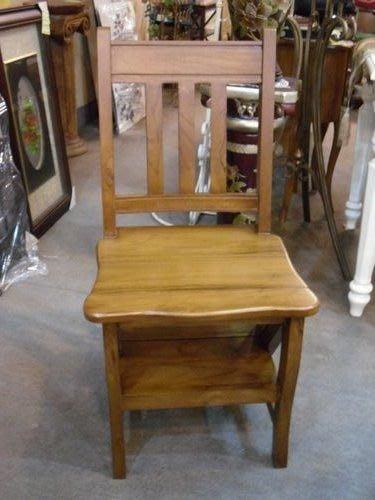 美生活館 --印尼進口全柚木原木家具--樓梯椅--無現貨, 印尼進口, 需預訂, 可等候再購買