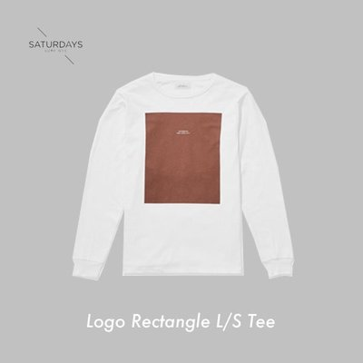 WASHIDA【LS01】SATURDAYS NYC 美國品牌 Logo Rectangle L/S Tee 長袖衛衣