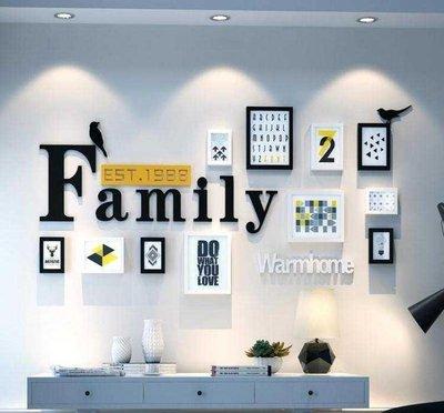 §玲瓏閣§組合照片牆相框客廳裝飾畫溫馨餐廳牆畫沙發後背景壁畫牆壁臥室   黑白混搭1 3-29