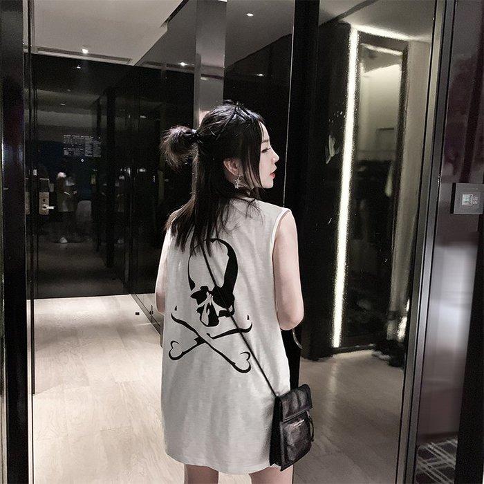 ❤Princess x Shop❤骷髏頭印花背心DL9061621正韓國連線吊帶褲蕾絲一字領