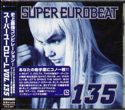 K - Super Eurobeat Vol.135 - 日版 SUSAN BELL MEGA NRG - NEW