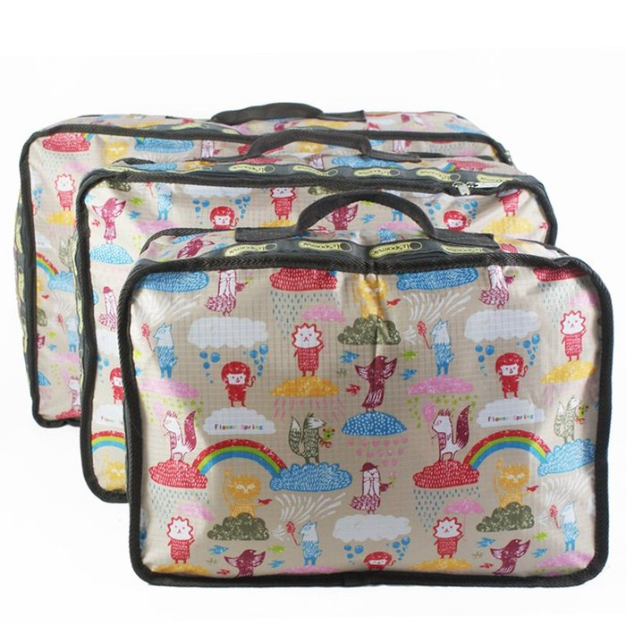 收納袋防塵壓縮袋7-11全家正韓國版新款防水衣服收納袋整理袋 被子棉被防塵袋兒童幼兒園被子收納袋1951