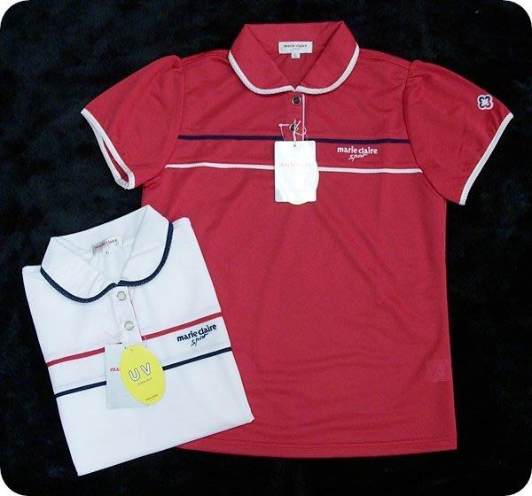 ﹝柒號倉庫﹞Marie Claire 高球衫 ZLF019 (現貨款L-紅)-零碼出清