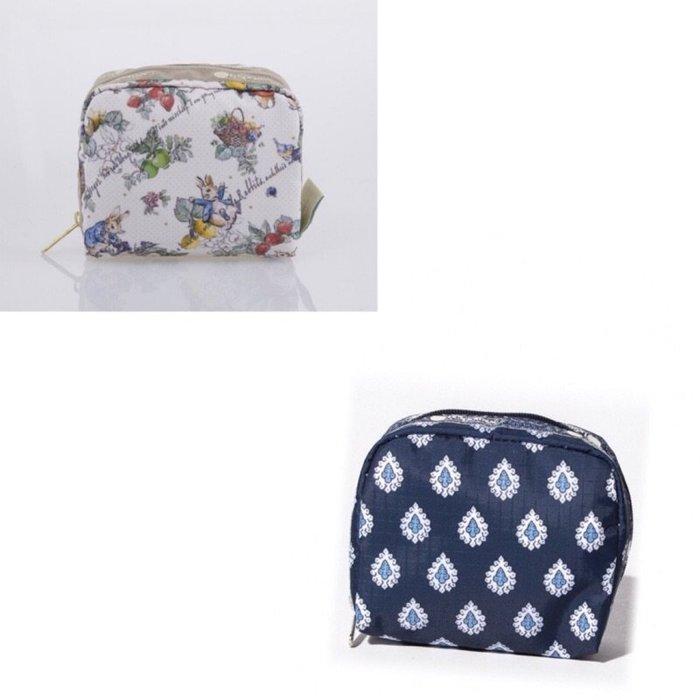 ♥ 小花日韓雜貨 ♥ --特價 Lesportsac 6701 藍色鑽石花Peter Rabbit彼得兔款化妝包零錢包