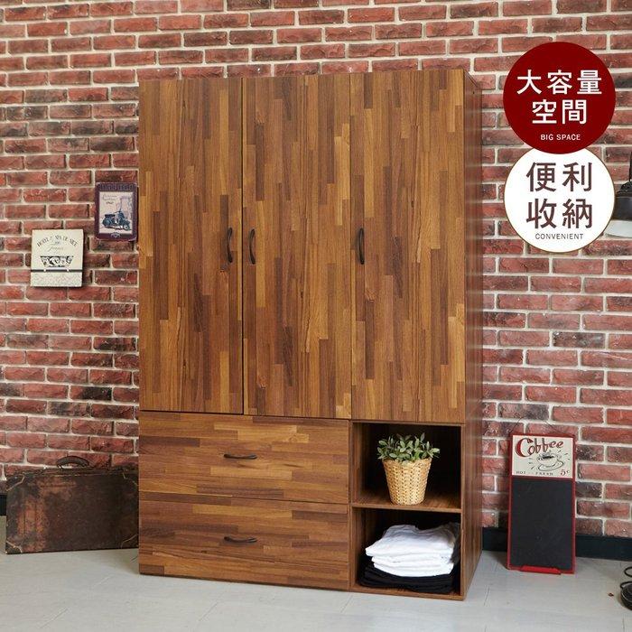 臥室 衣櫥  【居家大師】工業風上下分離型三門衣櫃 BO048MP 衣櫃/衣櫥/收納櫃