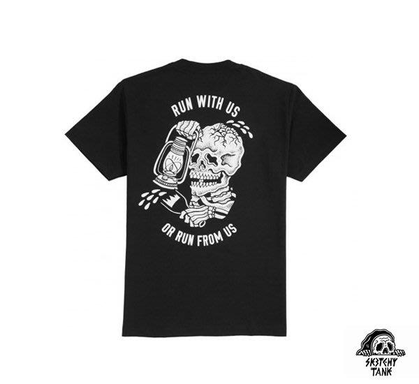 GOODFORIT / 美國Sketchy Tank Run骷髏油燈主題短袖上衣