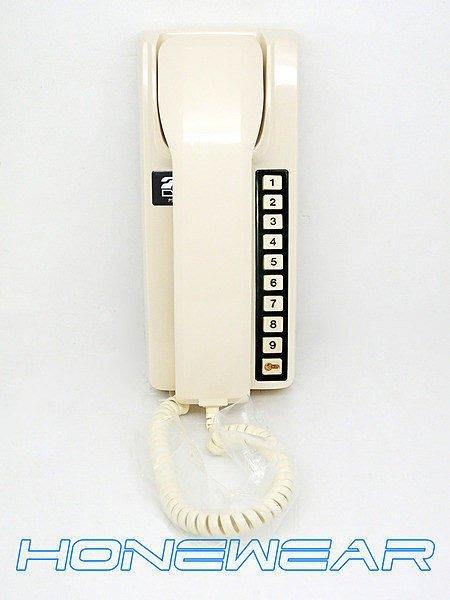 明谷牌C型透天用室內外對講機2台+明谷牌對講機聽筒組1組