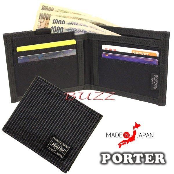 巴斯 日標PORTER屋-現貨 PORTER DRAWING 二折皮夾-全卡式短夾 650-09781