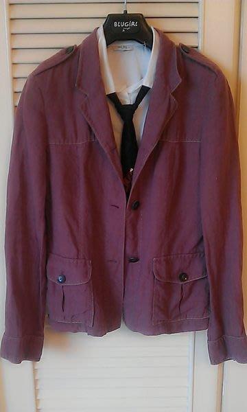 紫藕色【Max Mara】100 %  單排牛角扣休閒式西裝外套