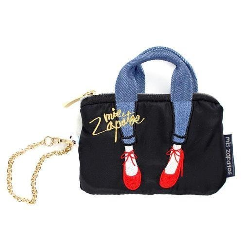 日本原裝 Mis Zapatos 美腿 高跟鞋包 零錢包 悠遊卡套