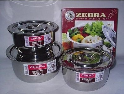 【主婦廚房】ZEBRA 斑馬牌INDIAN(厚型)不銹鋼調理鍋(湯鍋)22cm~正#304不銹鋼