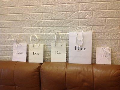 精品  Dior 中紙袋 小紙袋 全新 亮面 壓紋 緞帶都有 保證真品