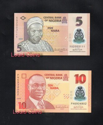 【Louis Coins】B134-NIGERIA--2009奈及利亞紙幣(4張一套)