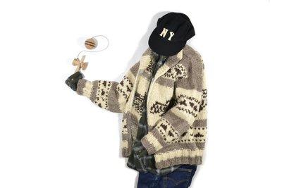 Cowichan Hand Knit Sweater 加拿大製 雷鳥 手工編織 考津 外套 毛衣 針織 戶外 羊毛