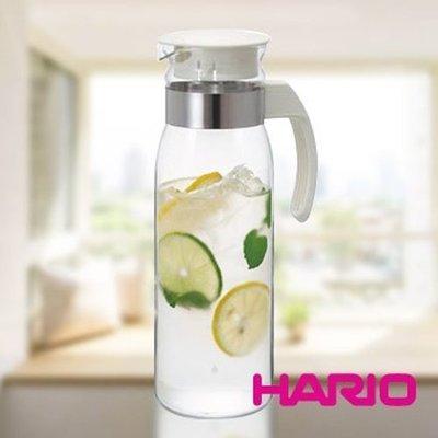 【HARIO】玻璃冷水壺(白色)1400ml RPLN-14OW (RPL-14改款新上市) 咖啡壺 茶壺 檸檬水 果汁