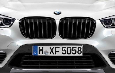 【樂駒】BMW F48 X1 M Performance 高光澤 黑水箱罩 原廠 改裝 套件 空力 外觀 黑鼻頭 水箱罩