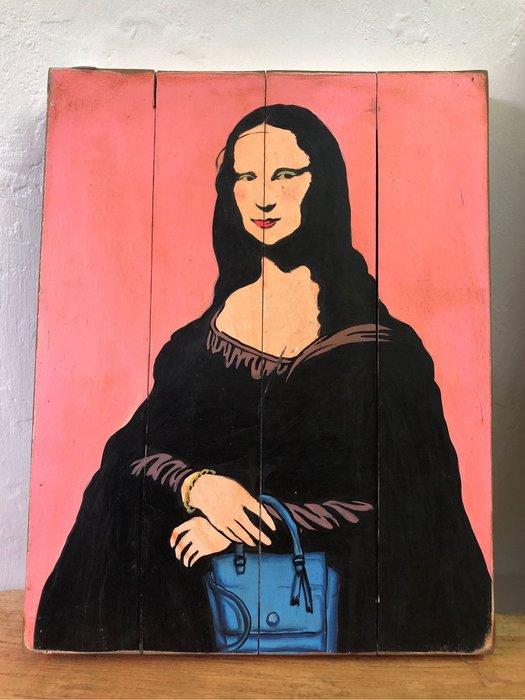 粉紅蒙娜麗莎掛畫掛飾 (L50 W39 H4 cm)