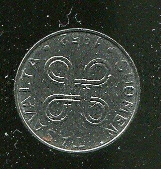FINLAND 芬蘭錢幣, 1-MARKA , K36 , 1952 , 品相 95新AU+