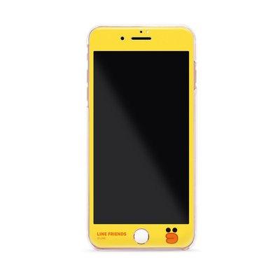 GARMMA Line Friends iPhone7 4.7吋 Plus 5.5吋 -3D曲面珠光鋼化玻璃膜-嘟嘴莎莉