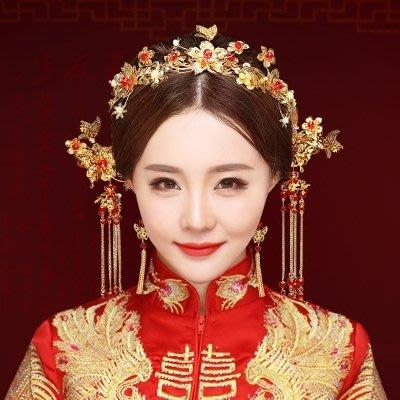 婚紗名店指定款新品新娘造型頭飾古風髮飾秀禾服飾品古典龍鳳褂配飾結婚中式鳳冠