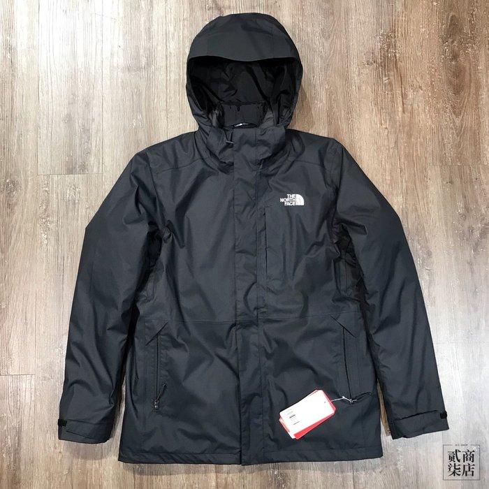 (貳柒商店) THE NORTH FACE 男款 黑色 防潑水 羽絨 外套 兩件式 保暖 NF0A3L8OKX7
