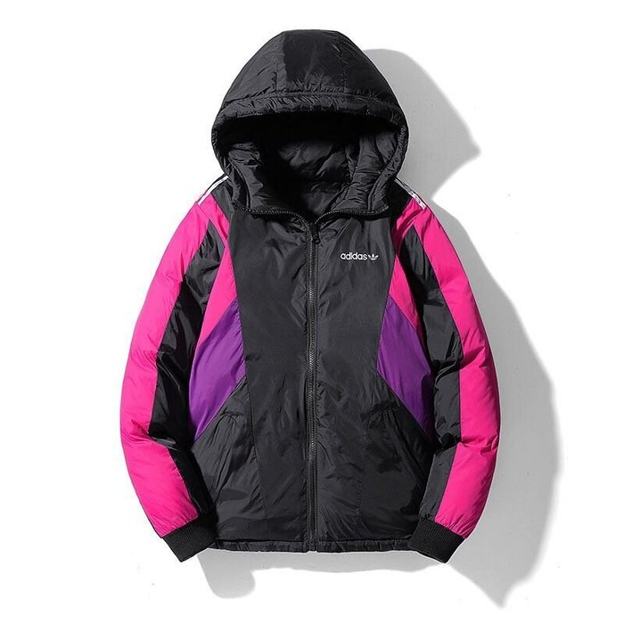 『Fashion❤House』新款愛迪達棉衣外套保暖外套休閒運動連帽外套兩面穿撞色外套開衫外套