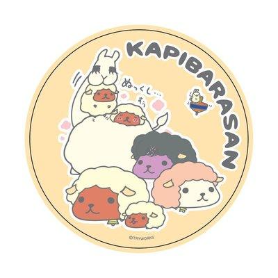 4165本通 板橋店 kapibarasa 水豚君 羊年 吸水杯墊 -黃 4713696762638