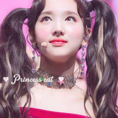 韓國Baby~Princess Cat 少女心 紫色+彩鉆雙拼愛心 twice娜璉925銀針耳環