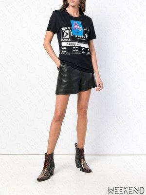 【WEEKEND】 DIESEL T-GODIE 印圖 短袖 T恤 上衣 黑色 18秋冬