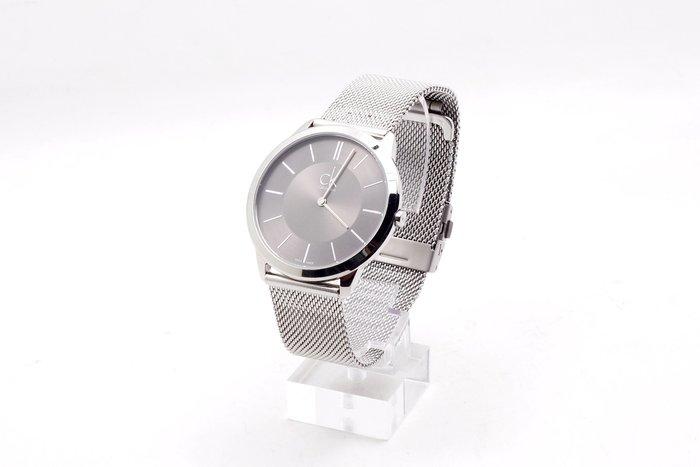 【台中青蘋果】Calvin Klein CK 雅痞極簡男性手錶 K3M211C4 #30116