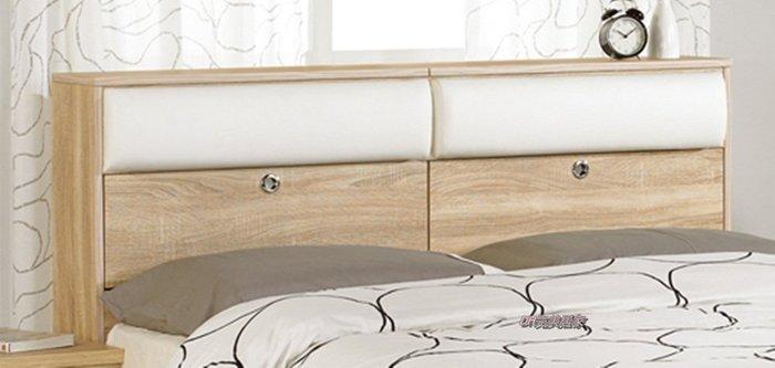 【DH】 商品貨號N569-2品名稱《凱寧》橡木紋床頭箱(圖一)其它另計。床箱可掀置物。主要地區免運費