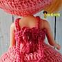 年終特價中~粉紅色可愛針織小洋裝+蓬蓬裙 適合穿於Blythe小布普利普珍妮莉卡licca等娃身上【魷魚格格】