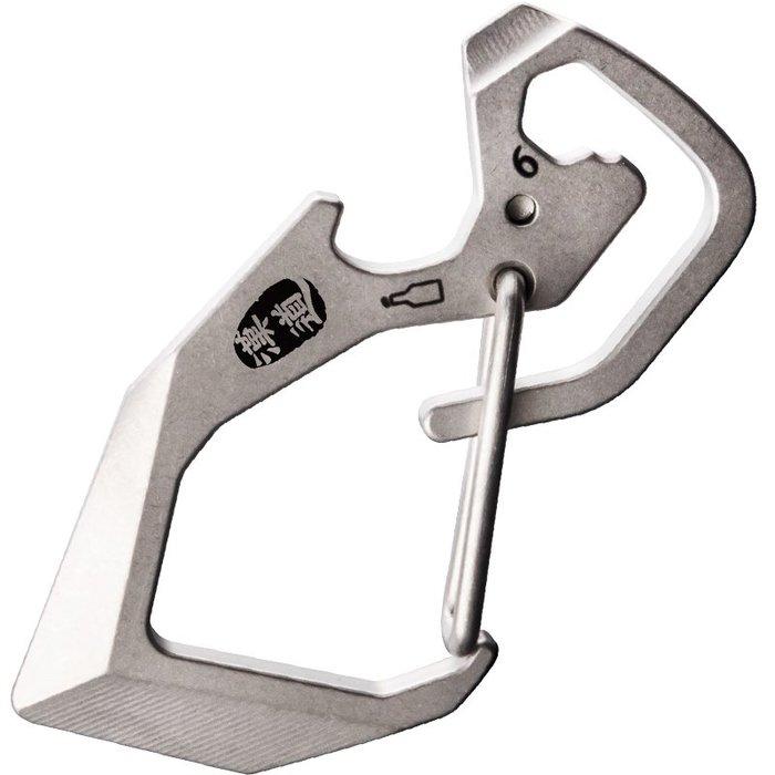 全新漢道EDC鈦合金多功能鑰匙扣環戶外防身軍刀鑰匙扣 登山扣K79