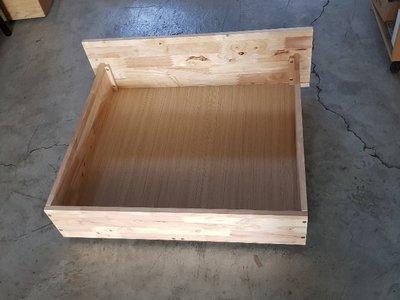 彰化二手貨中心(原線東路二手貨)-----全新庫存 實木床下 收納櫃  置物櫃(附輪)