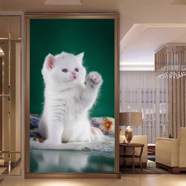 客製化壁貼 店面保障 編號F-603 貓咪可愛 壁紙 牆貼 牆紙 壁畫 星瑞 shing ruei