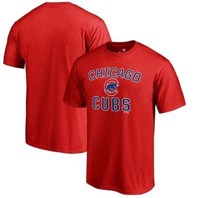 MLB芝加哥小熊隊Chicago Cubs Victory Arch T-Shirt短袖T恤-紅色