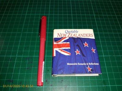袖珍版《Quotable New Zealanders》大小約7*8*1cm 【CS超聖文化讚】
