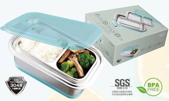 #304不鏽鋼雙層分隔密封餐盒 雙層兩格設計 排氣閥排水蒸氣 午餐盒 野餐盒 保鮮盒2002073DS2001 600