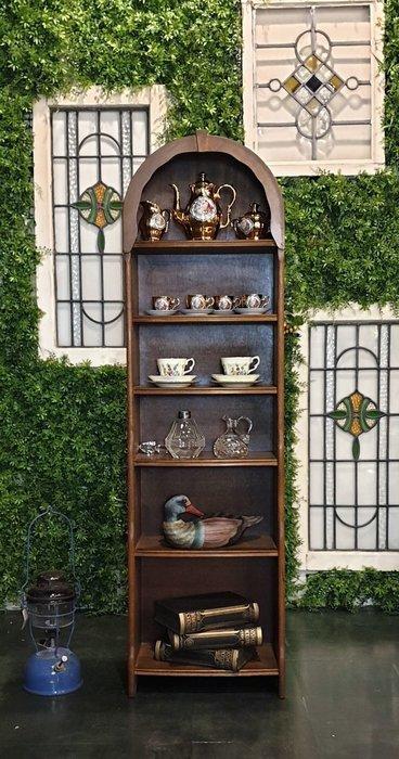 【卡卡頌  歐洲古董】英國老件~拱頂  小書櫃  展示櫃  收納櫃   ca0274