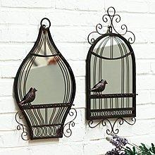 〖洋碼頭〗歐式鳥籠鏡子壁飾 創意家居手工鐵藝裝飾品牆面掛件酒吧歐式壁掛 ybj125
