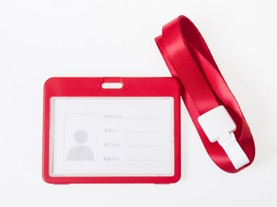 雙面透明工作證證件卡套 識別證交通悠遊...