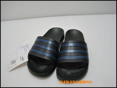 【喬治城】ADIDAS 愛迪達 運動拖鞋(黑藍)F35532