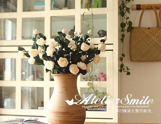 [ Atelier Smile ] 鄉村雜貨 小花園系列 仿真法式玫瑰 裝飾果樹 仿真植物 六色選 (現+預)