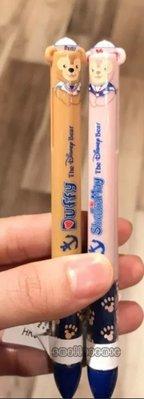 香港迪士尼Duffy,shelliemay藍红色原子筆