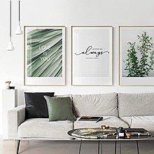 北歐現代小清新簡約植物葉子花卉字母裝飾畫畫芯掛畫壁畫牆畫畫心(不含框)