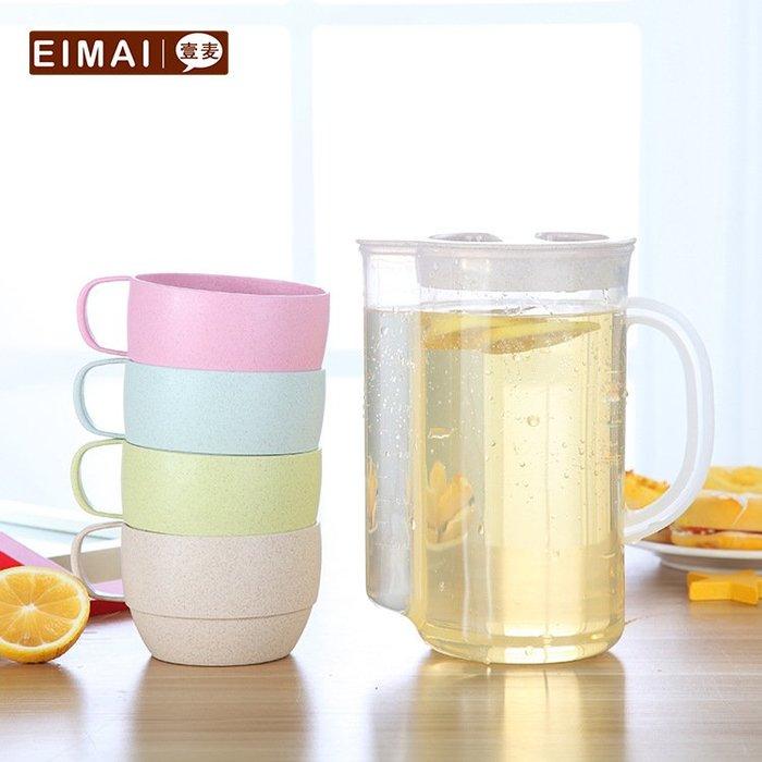 家用大容量冷水壺套裝塑料涼水壺豆漿果汁花茶壺套裝耐高溫水杯扎