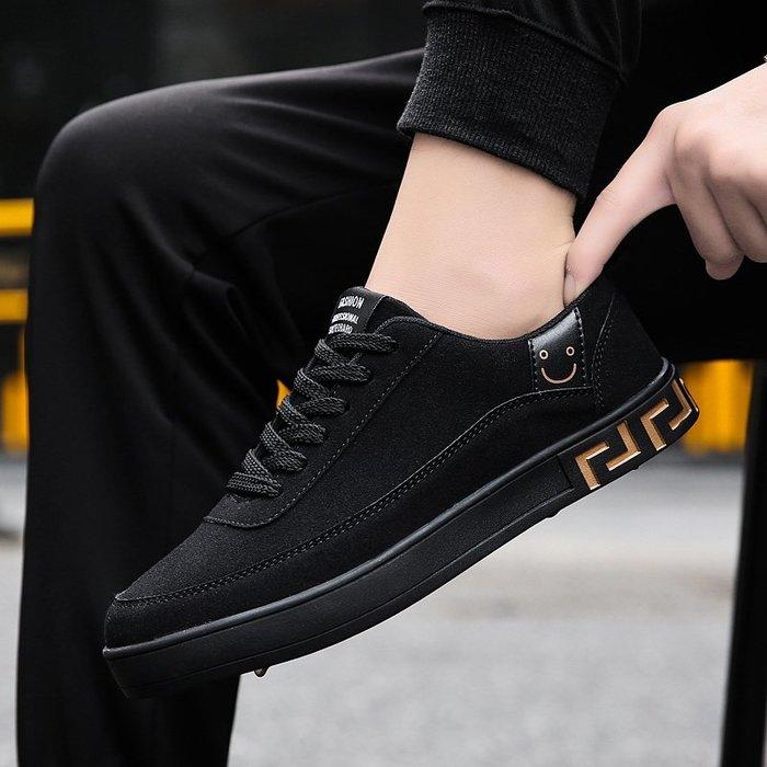 衣萊時尚-熱賣款 春季男鞋子男士百搭平底板鞋青少年韓版潮流休閑學生低幫復古潮鞋