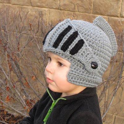 Baby's Go!!  武士頭盔 兒童萬聖節/聖誕節/化裝舞會/搞怪創意毛帽/造型毛帽/編織毛帽/保暖毛線帽
