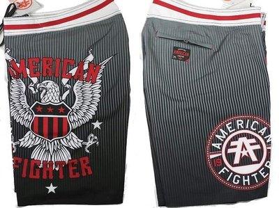 Affliction 海灘褲 衝浪褲泳褲 紅色老鷹 UFC MMA 刺青潮牌 黑灰色 30 32 【以靡專櫃正品】